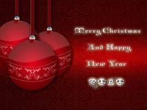 De rode ballen van Kerstmis. Royalty-vrije Stock Foto's