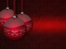 De rode ballen van Kerstmis. Royalty-vrije Stock Foto