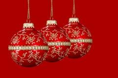 De Rode Ballen van Kerstmis Stock Afbeelding