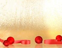 De rode ballen van Kerstmis Stock Afbeeldingen