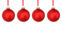 De rode ballen van Kerstmis Royalty-vrije Stock Afbeeldingen