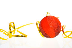 De rode ballen van Kerstmis Royalty-vrije Stock Afbeelding