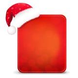 De rode Banner van Kerstmis met de Hoed van de Kerstman stock illustratie