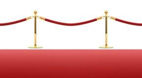 De rode barrière van de tapijtkabel vector illustratie