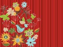 De rode bloementuin van het vrije slag Royalty-vrije Stock Fotografie