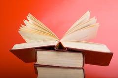 De rode Boeken Royalty-vrije Stock Afbeeldingen