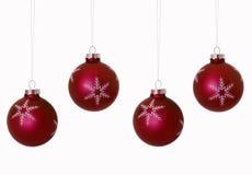 De rode Bollen van Kerstmis Stock Afbeelding