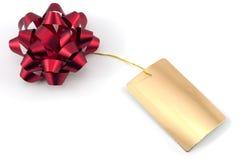 De rode Boog van de Gift Royalty-vrije Stock Fotografie