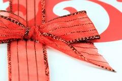 De rode Boog van Kantkerstmis Royalty-vrije Stock Fotografie