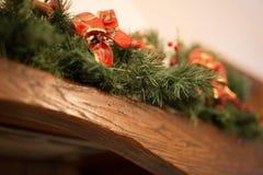 De rode Boog van Kerstmis Royalty-vrije Stock Foto