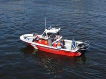 De rode Boot van de Brand Royalty-vrije Stock Afbeelding