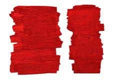De rode borstel stookt textuur op witte vectorillustratie op als achtergrond Royalty-vrije Stock Foto's
