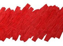 De rode borstel stookt textuur op witte vectorillustratie op als achtergrond Stock Afbeeldingen