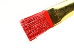 De rode Borstel van de Verf Royalty-vrije Stock Foto's
