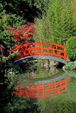 De rode brug Stock Foto