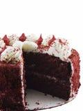 De rode Cake van het Fluweel Stock Afbeelding