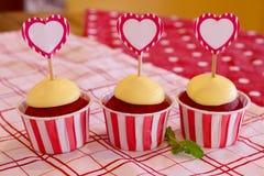 De rode Cake van het Fluweel Royalty-vrije Stock Afbeelding