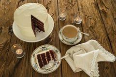 De rode Cake van het Fluweel Stock Foto