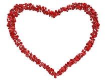 De rode cellen van het hartbloed Stock Afbeeldingen