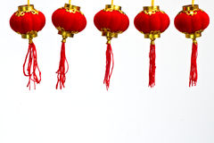 De rode Chinese Lantaarn van het Document Royalty-vrije Stock Foto