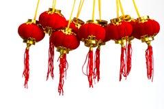 De rode Chinese Lantaarn van het Document Stock Afbeelding