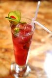 De rode citroen van de cocktail Stock Fotografie
