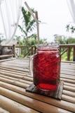 De rode cocktail voor ontspant tijd Stock Fotografie