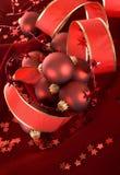 De rode decoratie van Kerstmis Royalty-vrije Stock Afbeeldingen