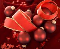 De rode decoratie van Kerstmis Royalty-vrije Stock Afbeelding