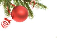 De rode decoratie van Kerstmis Royalty-vrije Stock Foto's