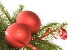 De rode decoratie van Kerstmis Stock Foto's