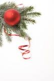 De rode decoratie van Kerstmis Stock Fotografie