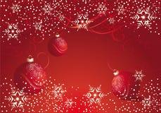 De rode decoratie van Kerstmis met snuisterij Royalty-vrije Stock Afbeeldingen