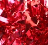 De rode decoratie van klatergoudkerstmis. Royalty-vrije Stock Foto
