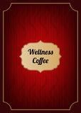 De rode dekking van het koffiemenu Royalty-vrije Stock Foto
