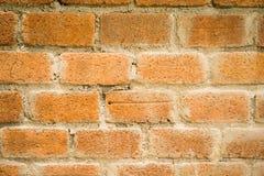 De rode details van de bakstenen muuroppervlakte Stock Fotografie