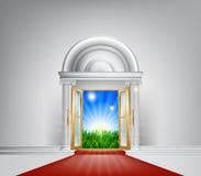 De rode deur van de tapijtaard vector illustratie