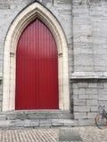 De rode Deur van de Kerk Royalty-vrije Stock Fotografie