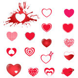 De pictogrammen van het hart Stock Fotografie