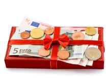 De rode doos van de gift Royalty-vrije Stock Afbeelding