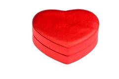 De rode doos van de hartvorm Royalty-vrije Stock Fotografie