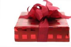 De rode doos van de verjaardag Stock Foto