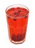 De rode drank van het Amerikaanse veenbesfruit Royalty-vrije Stock Afbeelding