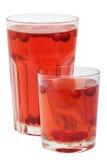 De rode dranken van het Amerikaanse veenbesfruit Stock Afbeeldingen