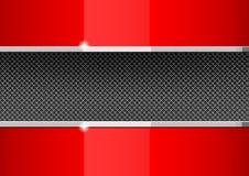 De rode en grijze dekking van het ontwerpmalplaatje Stock Foto's