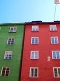 De rode en groene bouw Royalty-vrije Stock Foto's
