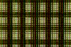 De rode en groene pixel gloeien en vouwen turkoois licht op de computermonitor royalty-vrije stock foto