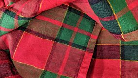 De rode en groene stof van de Kerstmiskleur stock illustratie