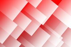 De rode en Witte Achtergrond van Vierkanten Stock Afbeelding