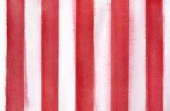 De rode en witte decoratieve achtergrond van de strepenwaterverf royalty-vrije illustratie